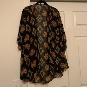 Cover up, sheer kimono style